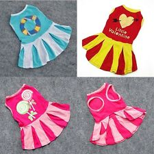 Fashion Various Pet Puppy Mini Dress Apparel Small Dog Cat Skirt Stripe Clothes