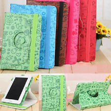 "Cartoon 8""inch 360°Rotating Folio PU Leather Case Cover Stand for Tablet Android"