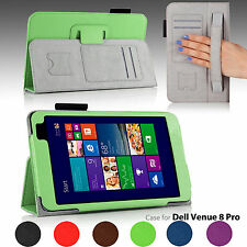 For 8-inch Dell Venue 8 Pro Windows Tablet PU Leather Folio Stand Case Cover