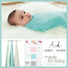 ★ Aden and Anais Baby Bamboo Muslin Swaddle Wrap 3 Pack Various Styles Gift ★