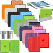 Slim Magnetic Leather Smart Cover with Hard Back Case For APPLE iPad 2 3 4Gen