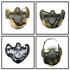 Airsoft Tactical Military Army Marines Wire Mesh Half Face Mask w/Ear Protect