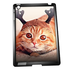 Cover for iPad 2/3/4 case #317 Reindeer Cat Christmas Gift Animal Love funny