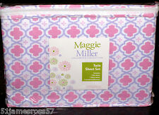 maggie miller PINK twin size sheet set