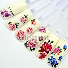 Beauty Nail Art Decal Water Transfer Stickers Decorations Tool Flower Design MC