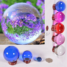 5 Color 3 Size Asian Rare Natural Quartz Magic Crystal Healing Ball Sphere Stand