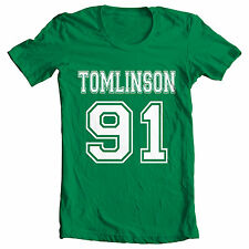 Green 'TOMLINSON 91' One Direction inspired Niall Zayn Harry Louis Liam T Shirt