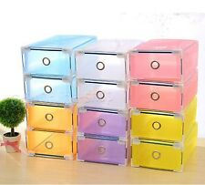 Home Stackable Storage Shoe Box Case Organizer Cabinet Container Foldable Drawer