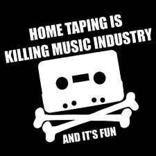 HOME TAPING KILL MUSIC INDUSTRY (the pirate bay piracy retro torrent) T-SHIRT
