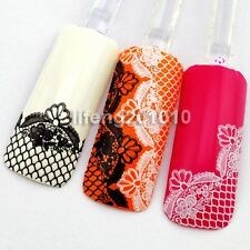 New 2015 3D Black White Lace Design Nail Art Stickers Decals Decoration Tool 05#