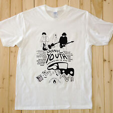 Sonic Youth Rock Music Band Tee T-Shirts Unisex Mens Womens 100% Cotton SY010