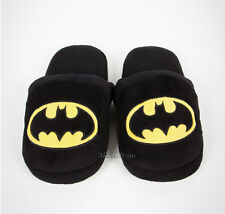 NEW DC Comics Super Hero Batman BAT LOGO Adult plush Slippers DARK KNIGHT S-M