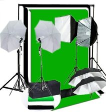 Studio 4 lights rapid softbox 4 umbrella lighting kit 800 W backdrop Support kit