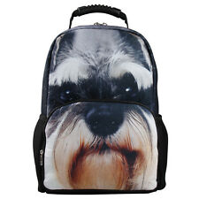 VNS HOT 3D Print Men's Animal Backpack Wolf School Bag Students Backpack