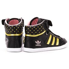 Adidas Centenia Hi, Womens Sneakers/Shoes NIB $85 #D65851 NIB Black/Gold  *HOT*