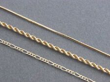 SOLID 14K YELLOW GOLD CHAIN NECKLACE FIGARO CURB ROPE SNAKE MADE IN ITALY