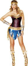 Sexy Warrior Wonder Woman Hot Lace Corset Halloween Costume Outfit Adult Women