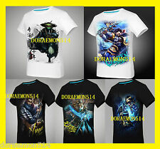 LOL League of Legends Men's Premium T-Shirt Casual Tee Ez Garen Jax Twist Yasuo