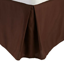 Gift 1000TC 1-PC Split Corner Tailored Bed Skirt Chocolate Solid All Size & Drop