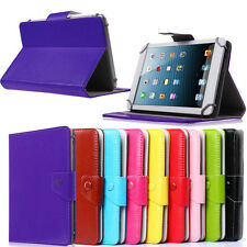 "Folding folio leather case cover stand for 9"" Nobis Dual Core 9 NB09 Tablet pc"