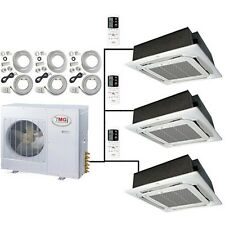 Tri Zone Ductless Mini Split Air Conditioner Heat: 3, 4, 5 TON: CEILING CASSETTE