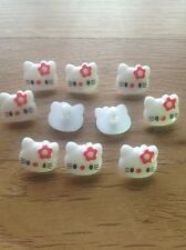 Hello Kitty Novelty Buttons - 14mm Shank Back - craft, cardmaking, sewing, cute