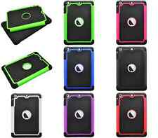 For Apple iPad Mini Case Duo Layer Mix Hybrid Hard Soft Case Cover Protective