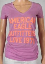 American Eagle Outfitters Love 1977 V-Neck Tee Womens Purple T-Shirt New NWT
