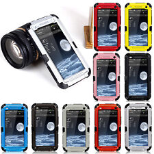 New Waterproof Shockproof Aluminum Metal Gorilla Glass Case Cover For HTC ONE M7