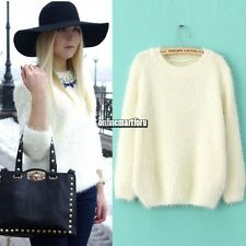 Hot Sell Women Round Neck Hollow Knitted Pullover Jumper Loose Sweater Knitwear