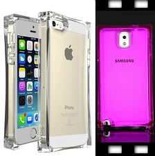 Clear TPU Glassy Ice Cube Shockproof Crystal Case Cover For iPhone 4 5 6 Samsung
