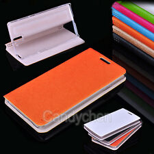 New PU Leather Flip Stand Case Cover + Screen Protector Film For OnePlus One 1+