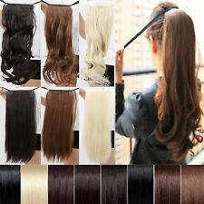 """15color Long wavy Party cosplay 18-22""""clip in ponytail pony tail hair extensions"""