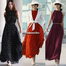 Sexy Women Summer Boho Long Maxi Evening Party Dress Chiffon Dress Beach Dresses