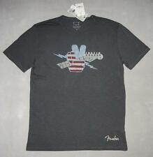 Lucky Brand FENDER PEACE T-Shirt 100% Cotton Men Made in USA Gray MRP $39.50 NWT