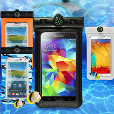 Waterproof Clear Pouch Case Cover Touch Skin For Samsung Galaxy Phone & Iphone 6