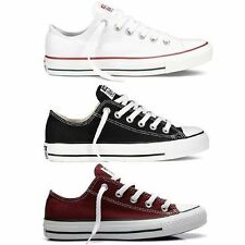Converse Genuine All Star As Core White Black Maroon Athletic Sneakers Canvas