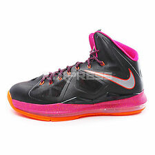 Nike Lebron X XDR [543645-005] Basketball Floridian Black/Orange-Fireberry