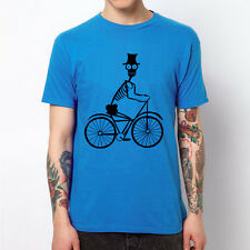 Skeleton Biker skull bone bike cycle fixed gear bicycle design gift t-shirt