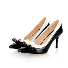 WOMENS LADIES SWEET STILETTO HIGH HEEL POINTED TOE COURT SHOES SIZE 1 2 3 4 5 6