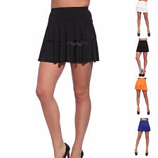 2 Layers Sexy Ladies UV Neon Rara Pleated SHORT MINI Skirt Dance Party Clubwear