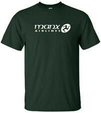 Manx Airlines Vintage Isle of Man Airline Logo T-Shirt