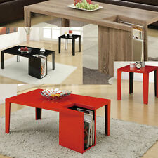 Modern High Closs Occasional Living room Coffee End Table with Magazine Rack NEW
