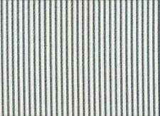 """2 French Country Ticking Stripe Nautical Blue 30"""" Curtain Panels Tiers Cotton"""
