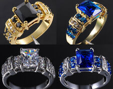 Size 8-12 Deluxe Jewelry Gold Filled Various Stone Band Ring