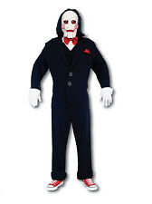 Mens Fancy Dress Jigsaw Saw Costume Mask Halloween Puppet Billy Doll Scary Movie