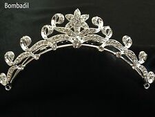 WEDDING CRYSTAL STAR &  CURLS COMB TIARA~VINTAGE EDWARDIAN STYLE~FREE POST UK