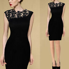 Sexy Lady Lace Stretch Clubwear Cocktail Evening Party Bodycon Dress Excellent