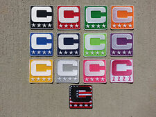 Captain C Patch for Jersey Basketball Softball Volleyball High School PICK COLOR