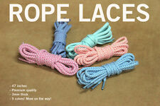 "Premium Rope Laces - Shoelaces - 47""(inches) KITH/BAIT/Asics/New Balance/Nike"